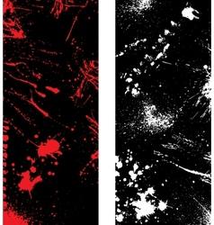 Ink blots banners vector