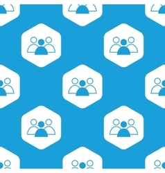 Group leader hexagon pattern vector