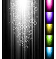 Line with circles shine vertical background vector