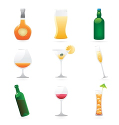 Icons for drinks vector