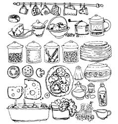 Kitchen items vector