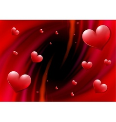 Valentines day card with abstract vortex and vector