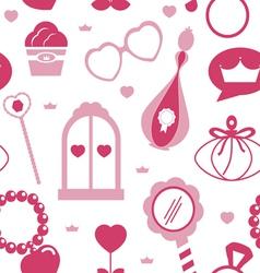 Princess acssessories seamless pattern vector