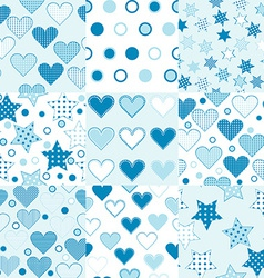 Baby boy seamless background patterns vector