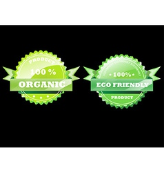 Set of eco badges vector