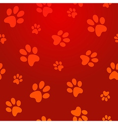 Footprints seamless pattern vector