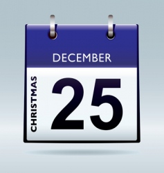 Christmas day calendar blue vector