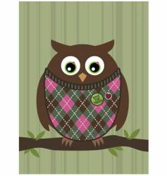 Perched owl vector