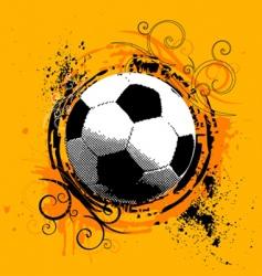 Grunge soccer vector