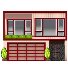 A building with red frames vector