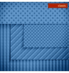Fabric patterns for website background design vector
