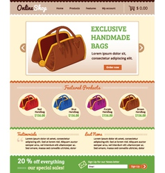 Template for retail shop website vector