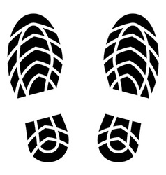 Clean shoe imprints vector