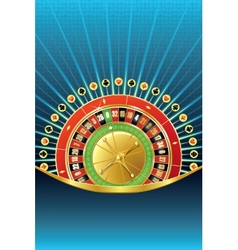 Abstract gambling background with roulette vector
