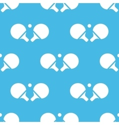 Blue ping-pong pattern vector
