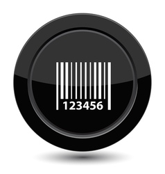 Button with barcode vector