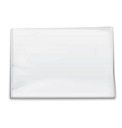 Blank newspaper template on white background vector