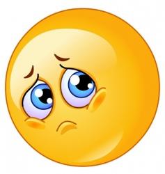 Sad emoticon vector