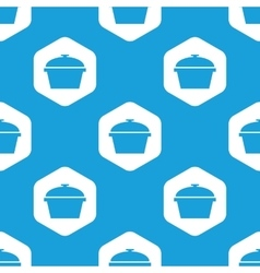 Pan hexagon pattern vector