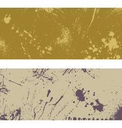 Two ink blots banner vector
