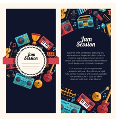 Modern flat design decorative invitation flyer t vector