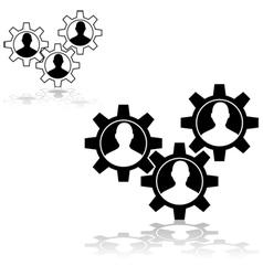 People gears vector