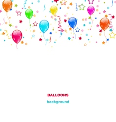 Party colorful balloons vector