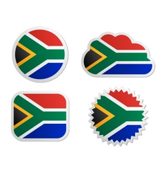 South africa flag labels vector