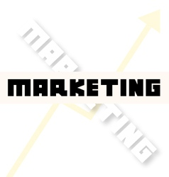 Marketing font creative vector