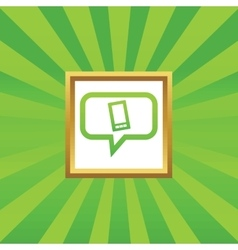 Smartphone message picture icon vector