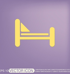 Bed symbol sign symbol or hotel stay vector