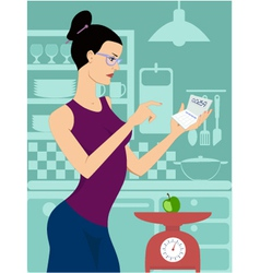 Dieting woman vector