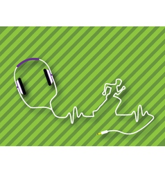 Headphones runner vector