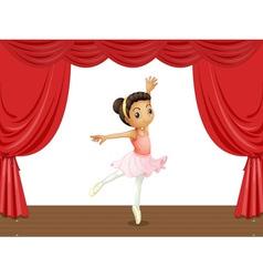 Ballerina on stage vector