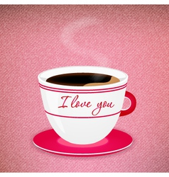Coffee valentine cup vector