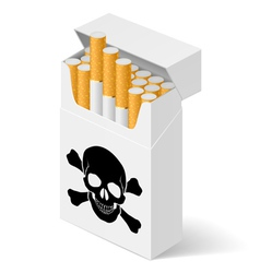 Pack cigarettes with black vector