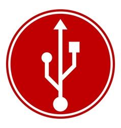 Usb button vector