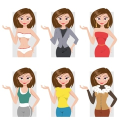 Different styles of clothing vector