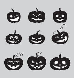 Halloween pumpkin icons vector