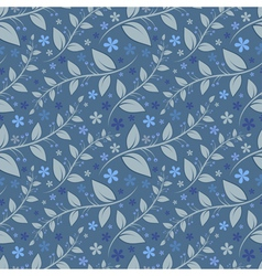 Seamless floral pattern with geometric stylizedflo vector