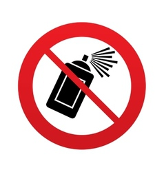 No graffiti spray can sign icon aerosol paint vector