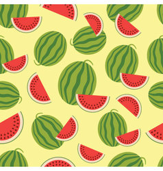 Watermelon seamless background vector