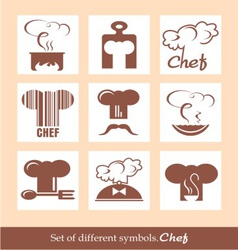 Set of different symbols chef vector