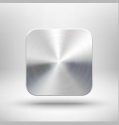 Technology app icon with metal texture for ui vector