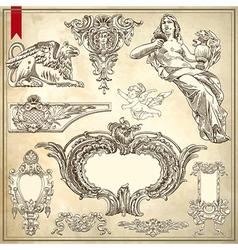 Sketch ornamental design element vector