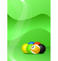 Pool balls background vector
