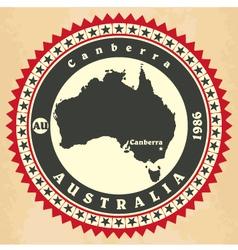 Vintage label-sticker cards of australia vector