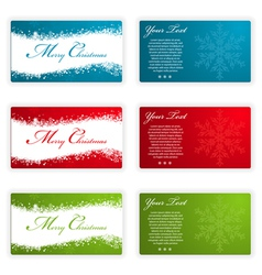 Collect christmas cards with snowflakes and wave p vector