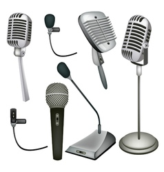 Set of microphone vector