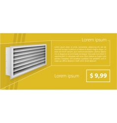 Ad layout for ventilation shutters vector